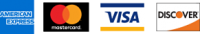 Amex, Mastercard, Visa, Discover